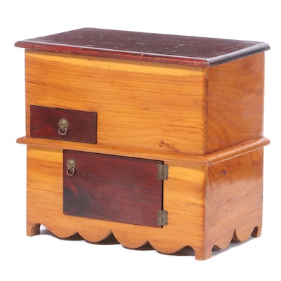 Miniature Pine Dry-Sink by Inmate of Maine Prison
