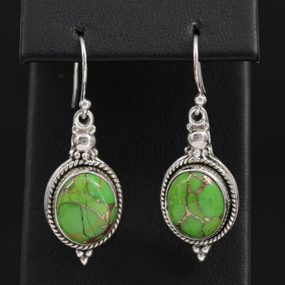 Sterling Silver Gaspeite Dangle Earrings