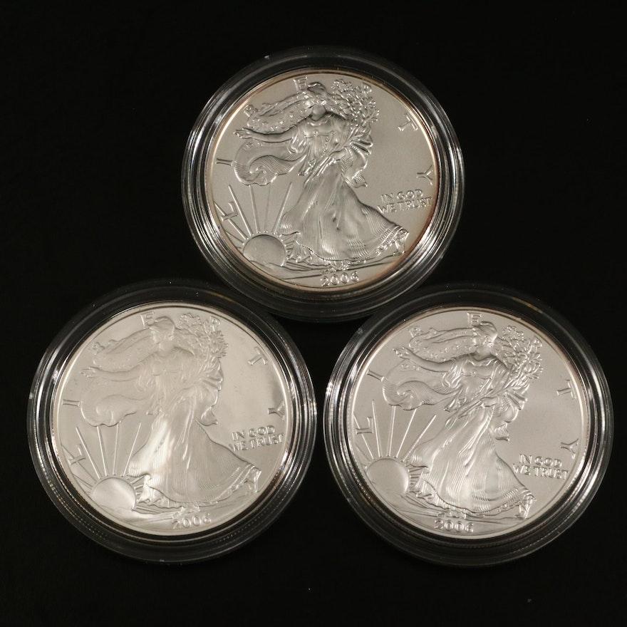 2006 U.S. Mint American Eagle 20th Anniversary Silver Coin Set