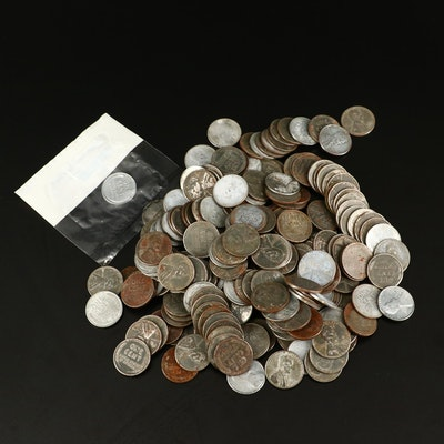 227 WWII Lincoln Steel Cents