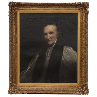 Portrait Oil Painting of Methodist Reverend Thomas Vasey, Late 18th Century