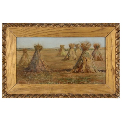 Marie H. Guise Newcomb Pastoral Landscape Oil Painting