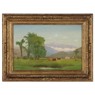 Clinton Loveridge Pastoral Landscape Oil Painting
