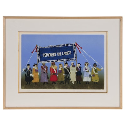 """Kristin Nelson Women's Suffrage Giclee Print """"Remember the Ladies"""""""