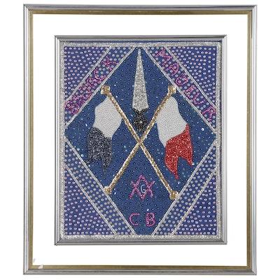 "Hatian Drapo Vodou Sequined Flag""St. Jack Majeur"""