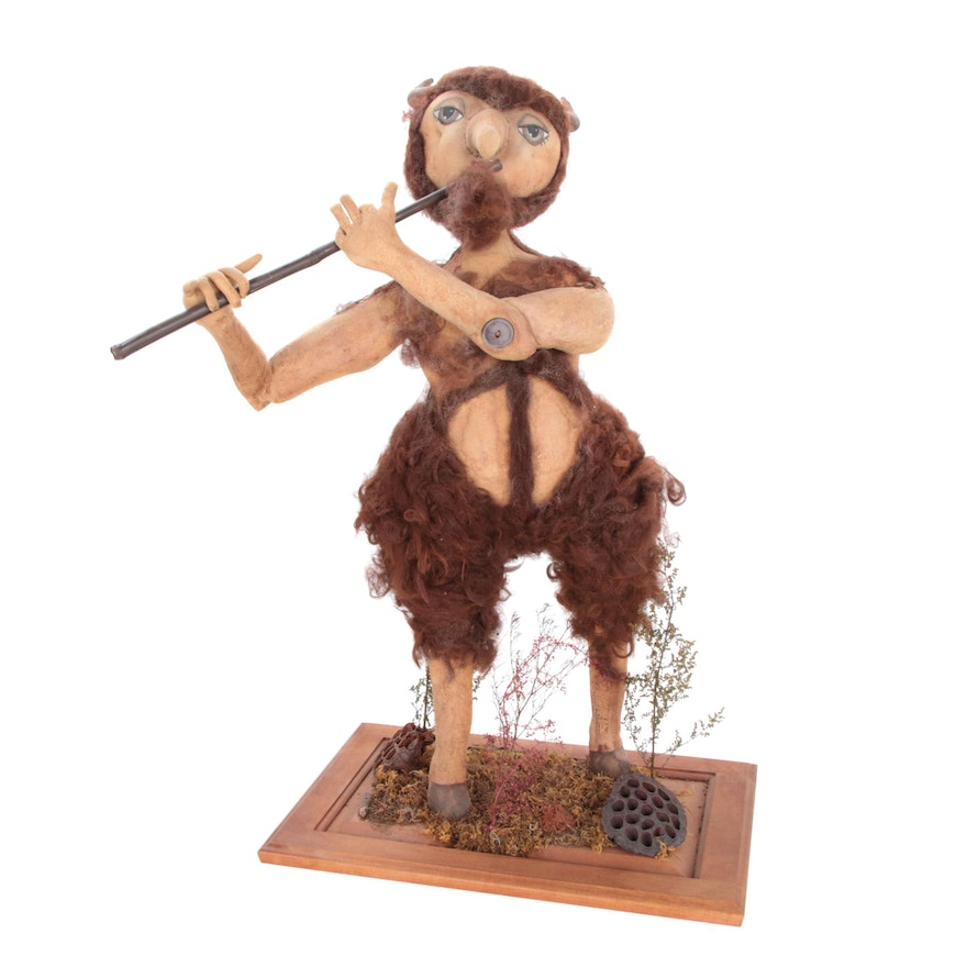 Bebe Priddy Soft Sculpture of a Faun