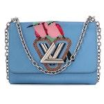 Louis Vuitton Light Blue Embellished Epi Leather MM Twist Handbag