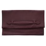 Hermès Burgundy Swift Leather Pliplat Clutch