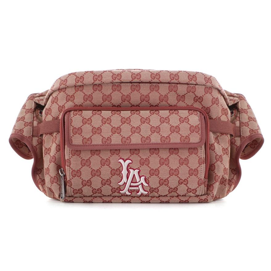 Gucci GG Canvas MLB LA Dodgers Convertible Belt Bag