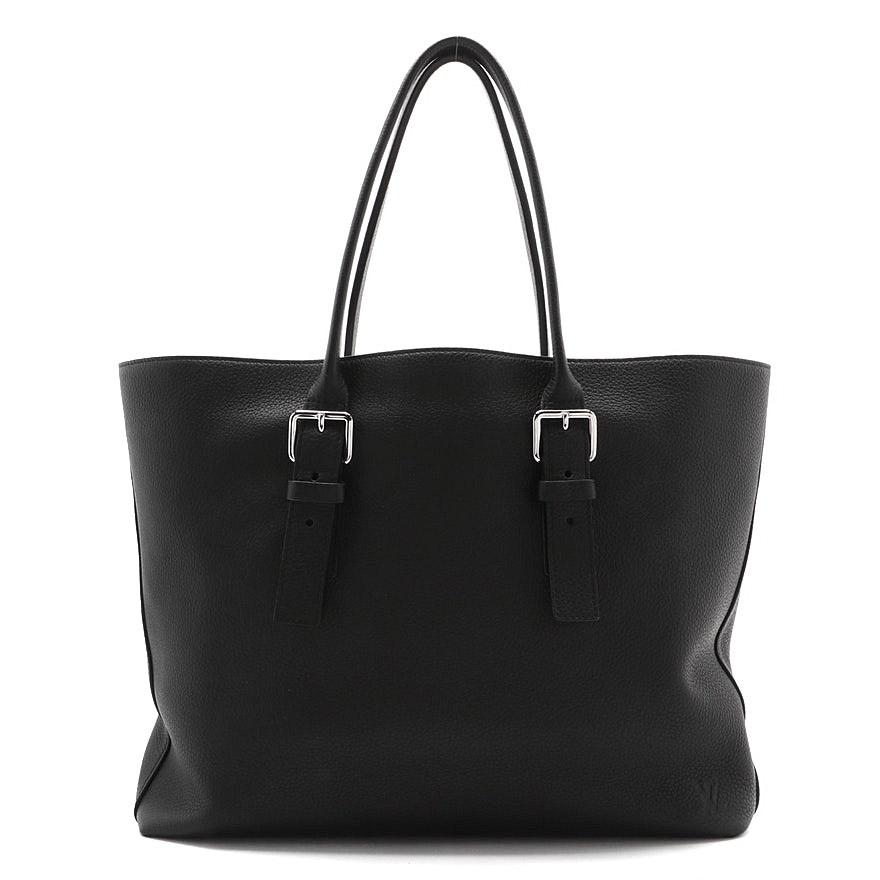 Louis Vuitton Black Taurillon Leather Cabas Voyage Tote