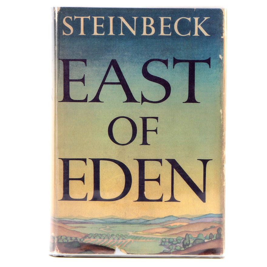 "First Trade Edition ""East of Eden"" by John Steinbeck with Dust Jacket, 1952"