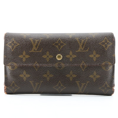 Louis Vuitton Porte Trésor Wallet in Monogram Canvas