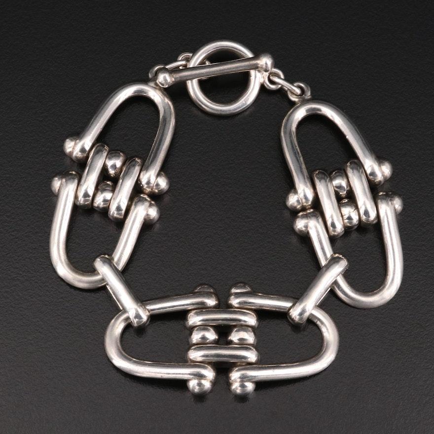 Sterling Silver Equestrian Bracelet