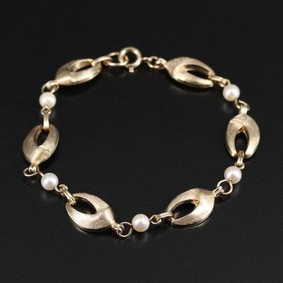 Gold Filled Cultured Pearl Bracelet
