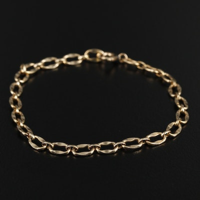 Vintage Gold Filled Fancy Link Bracelet