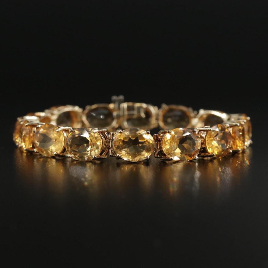 10K Yellow Gold Citrine Bracelet