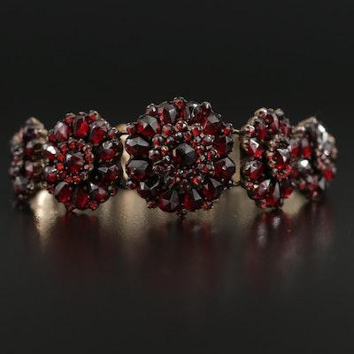Garnet Graduated Bracelet