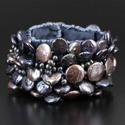 Cultured Peal Wrap Bracelet