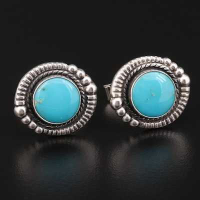 Sterling Silver Turquoise Cufflinks