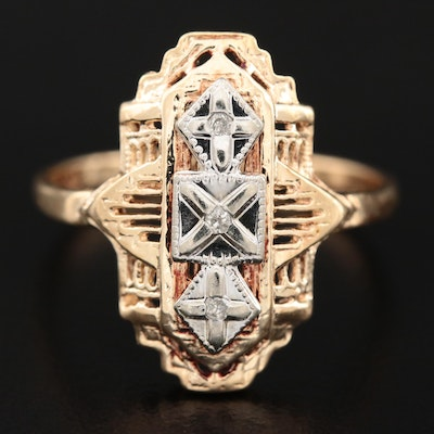 Vintage Starcraft 10K Gold Diamond Ring