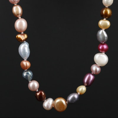 Multi-Colored Cultured Pearl Strand Endless Necklace
