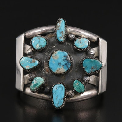 Southwestern Style Sterling Turquoise Nugget Cuff