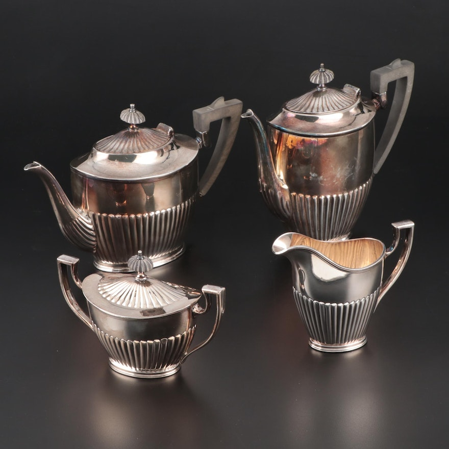E. G. Webster & Son Adams Style Silver Plate Tea and Coffee Service