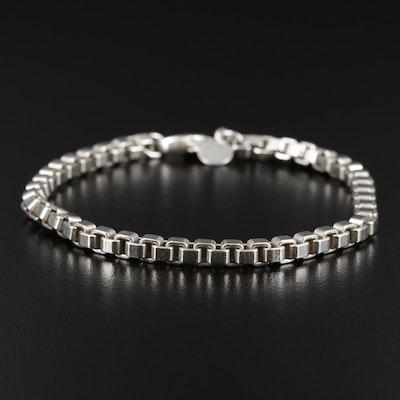 """Tiffany & Co. Sterling Silver """"Venetian Link"""" Box Chain Bracelet"""