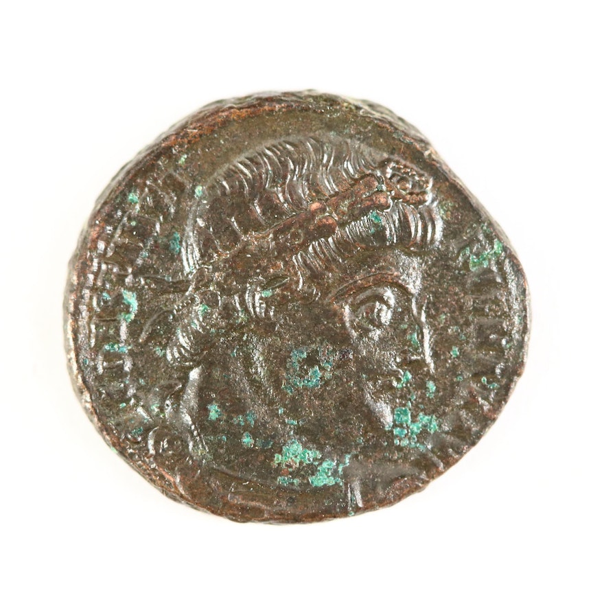 "Ancient Roman Imperial AE4 Coin of Constantine I, ""The Great,"" ca. 330 A.D."