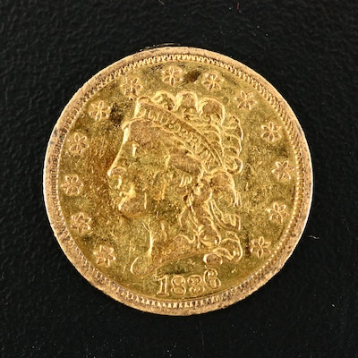 1836 Classic Head $2.50 Gold Quarter Eagle Coin