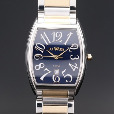 Schweiss Stainless Steel Swiss Quartz Wristwatch with Date