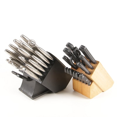 Farberware and The Main Ingredients Stainless Steel Kitchen Knife Sets