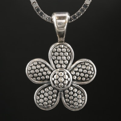 Lagos Sterling Silver Floral Pendant Necklace