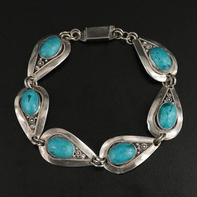 Sterling Silver Faience Bracelet