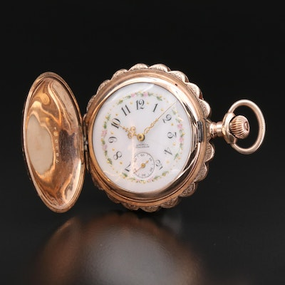 Antique American Watch Co. Waltham Pocket Watch, 1892