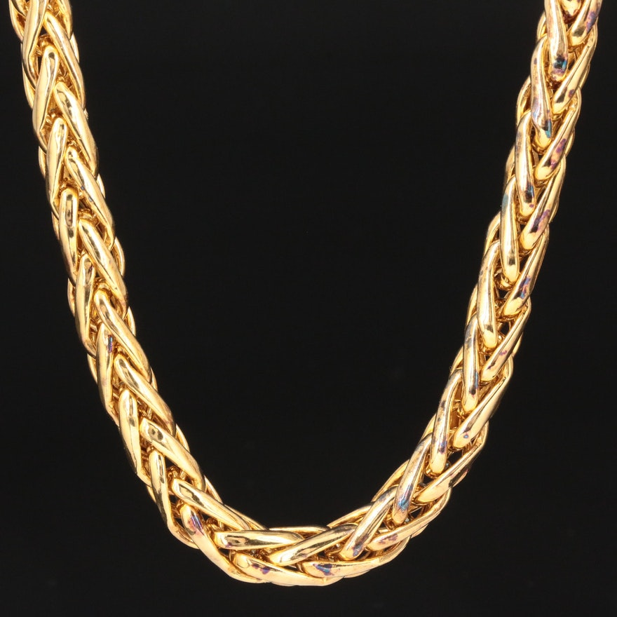 Veronese Sterling Silver Wheat Link Chain