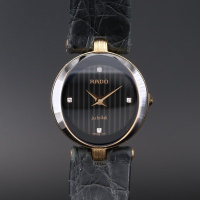 Rado Florence Diamond Dial Gold Tone Quartz Wristwatch