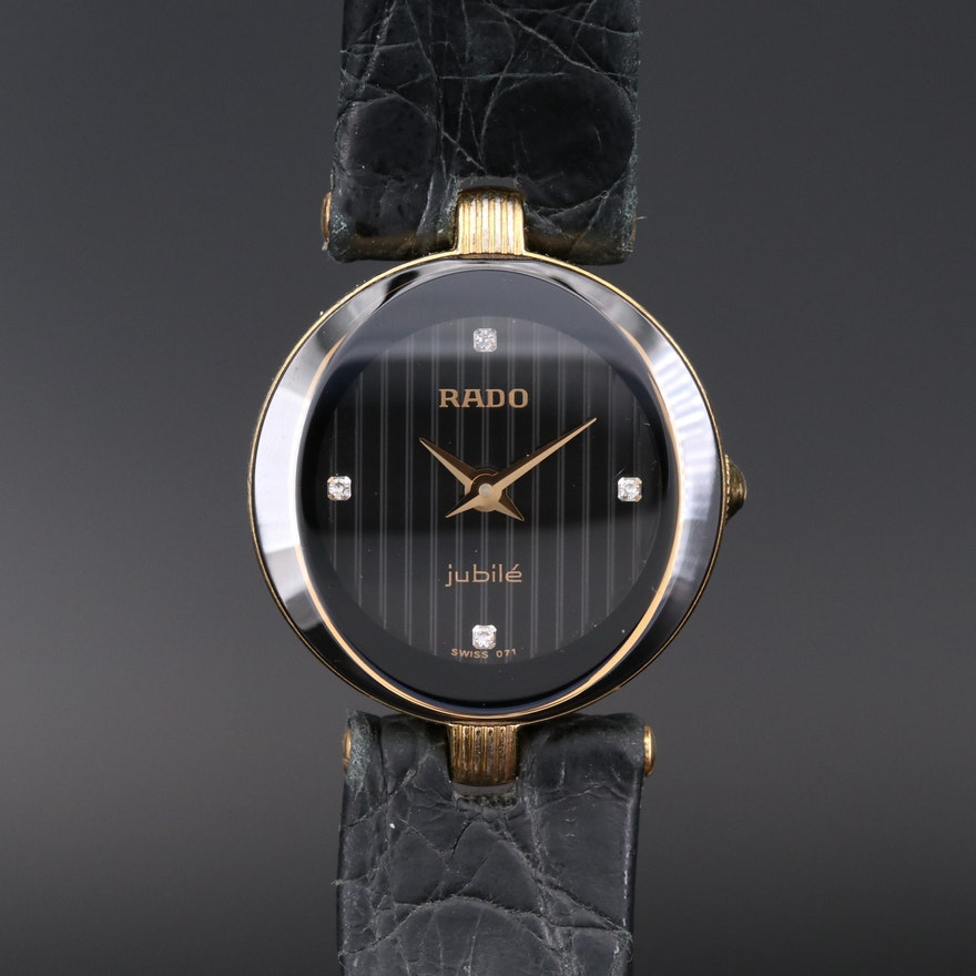 Rado Florence Diamond Dial Gold Tone Quartz Wristwatch