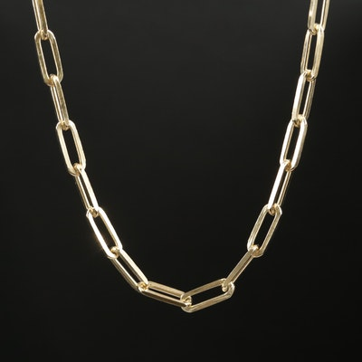 Sterling Silver Cable Chain Link Necklace