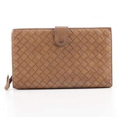 Bottega Veneta Continental Wallet in Intrecciato Nappa Leather