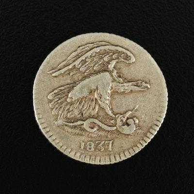 1837 1-Cent Feuchtwanger Token