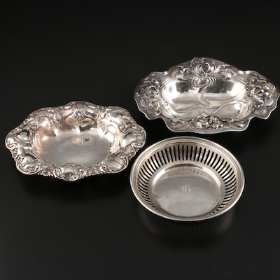 William B. Kerr & Co. and Mauser Mfg. Co. and Other Sterling Bonbon Bowls