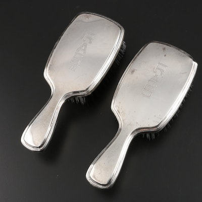 R. Blackinton & Co. Sterling Silver Hair Brushes, Early to Mid 20th Century