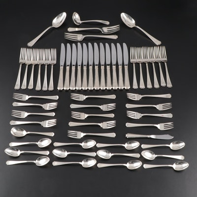 "Gorham ""Fairfax"" Sterling Silver Flatware with Chest, Early to Mid 20th Century"