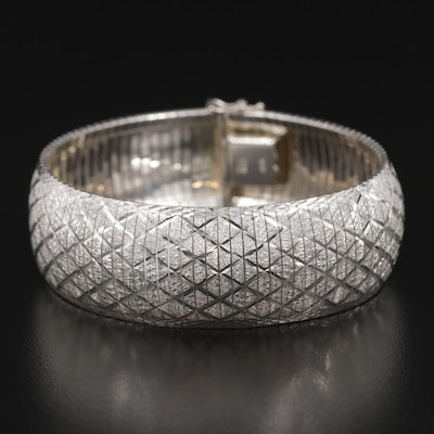 Sterling Silver Bracelet with Lattice Design
