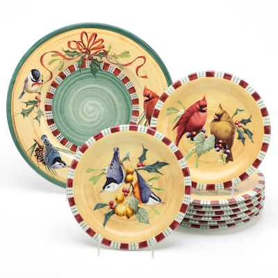 "Lenox ""Winter Greetings"" by Catherine McClurg Charger and Salad Plates"