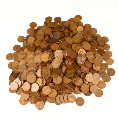 Approximately 720 Lincoln Wheat Cents