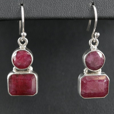 Sterling Silver Beryl Dangle Earrings