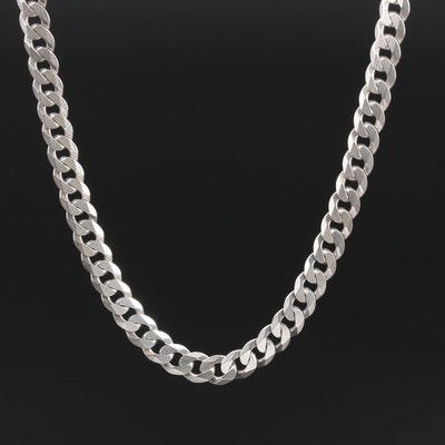 Sterling Silver Curb Chain Necklace