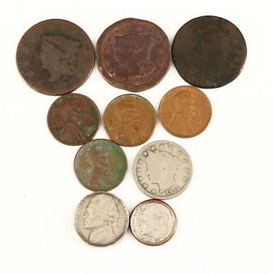 Assortment of U.S. Coins, Including a New Jersey Colonial Copper